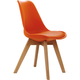 Diamond Sofa Coda Retro Side Chairs in Orange CODACHOR (Set of 2)