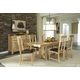 A-America Cattail Bungalow Trestle Table Dining 8pc Set in Natural