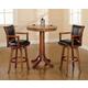 Hillsdale Furniture Park View 3pc Pub Dining Set in Medium Brown Oak