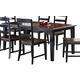 Hillsdale Furniture Avalon Extension Table in Black/Cherry 5505-810