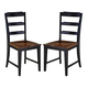 Hillsdale Furniture Avalon Side Chairs (Set of 2) in Black/Cherry 5505-802