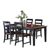 Hillsdale Furniture Avalon 5pc Dining Room Set in Black/Cherry