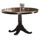 Hillsdale Furniture Bennington Pedestal Table in Black Distressed Gray