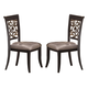 Hillsdale Furniture Bennington Dining Chair (Set of 2) in Black Distressed Gray 5559-802