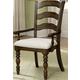 Hillsdale Pine Island Ladder Back Arm Chair in Dark Pine 4860-804 (Set of 2)