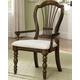 Hillsdale Pine Island Wheat Back Arm Chair in Dark Pine 4860-803 (Set of 2)