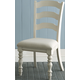 Hillsdale Pine Island Ladder Back Side Chair in Old White 5265-802 (Set of 2)