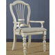 Hillsdale Pine Island Wheat Back Arm Chair in Old White 5265-803 (Set of 2)