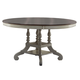 Hillsdale Pine Island Round Table in Old White with Dark Pine 5265-816-817