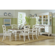 Hillsdale Pine Island 7pc Leg Extension Dining Set in Old White with Dark Pine