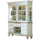 Hillsdale Pine Island Buffet with Hutch in Old White with Dark Pine 5265-851-852