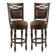 Hillsdale Seaton Springs Swivel Bar Stool in Weathered Walnut 5484-832 (Set of 2)