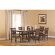 Hillsdale Seaton Springs 7pc Trestle Dining Set in Weathered Walnut