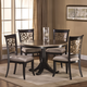 Hillsdale Furniture Bennington 5pc Dining Room Set in Black Distressed Gray