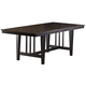 Hillsdale Furniture Copeland Trestle Dining Table in Distressed Brown/Black