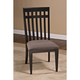Hillsdale Furniture Copeland Dining Chair (Set of 2) in Distressed Brown/Black 5566-802