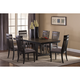 Hillsdale Furniture Copeland 7pc Dining Room Set in Black Distressed Gray