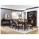 Hillsdale Furniture Denmark 7pc Dining Room Set in Dark Espresso