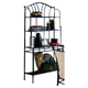 Hillsdale Furniture Mix N Match Baker's Rack in Black 4592-850