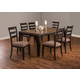 Hillsdale Furniture Sheridan 7pc Extension Dining Set in Black/Gray