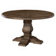 Hillsdale Furniture Lorient Round Dining Table in Washed Charcoal Gray 5676-ROUND