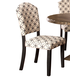 Hillsdale Furniture Lorient Parsons Dining Chair in Washed Charcoal Gray 5676-801 (Set of 2)