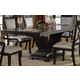 Crown Mark Serendipity Pedestal Dining Table in Dark Espresso