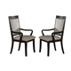 Crown Mark Serendipity Arm Chair in Dark Espresso (Set of 2) 2031A