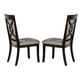 Crown Mark Serendipity Side Chair in Dark Espresso (Set of 2) 2031S