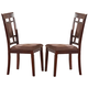 Acme Furniture Sonata Side Chair in Cherry (Set of 2)