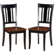Acme Furniture Galan Side Chair in Black (Set of 2)