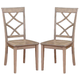 Acme Furniture Farnley Side Chair in Ash White (Set of 2)