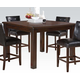 Acme Furniture Easton Counterheight  Table in Brown Cherry 71145