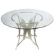 Armen Living Drake Dining Table in Stainless Steel LCDRDIB201TO