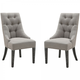 Armen Living Centennial Dining Chair In Linen Fabric (Set of 2) LCCNSIGR