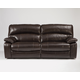 Damacio Two-Seat Reclining Sofa in Dark Brown U9820081 SPECIAL