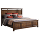 Intercon Furniture Wolf Creek Queen Panel Bed in Vintage Acacia