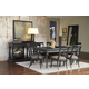 Pulaski Vintage Tempo 7pc Rectangular Leg Dining Set in Black