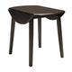 Hammis Round Dining Room Drop Leaf Table in Dark Brown D310-15