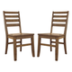 Dondie Dining Side Chair in Light Brown (Set of 2)