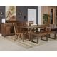 Dondie 7-Piece Rectangular Dining Set in Light Brown