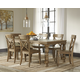 Trishley 7-Piece Rectangular Dining Set in Light Brown