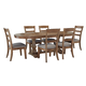 Danimore 7-Piece Oval Dining Set in Light Brown