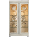 Bernhardt Criteria Display Cabinet in Heather Gray/ Pale Ivory 363-356C