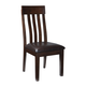 Haddigan Dining Side Chair in Dark Brown (Set of 2)