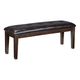 Haddigan Large Dining Room Bench in Dark Brown D596-00