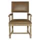 Bernhardt Antiquarian Leather Arm Chair in Wheat 365-542L (Set of 2)
