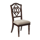 Leahlyn Dining Upholstered Side Chair in Reddish Brown (Set of 2)