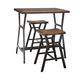 Danzing Rectangular Dining Counter Table Set in Dark Brown D280-113