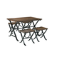 Freimore 5-Piece Dining Table Set in Medium Brown D311-225